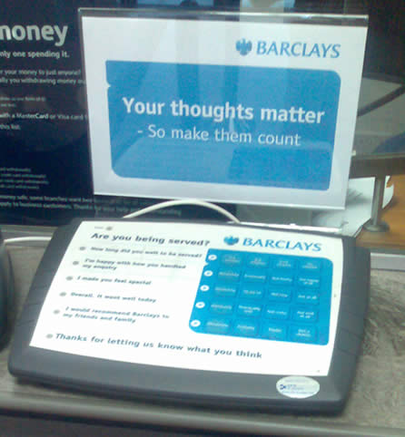feedback at barclays