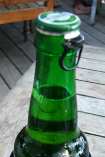 ringpull on a bottle