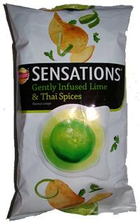 Walkers Lime and thai spices crisps